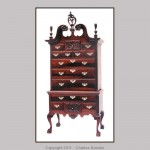 Reproduction of a Hollingsworth highboy.