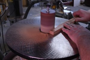 Making sawdust from offcuts