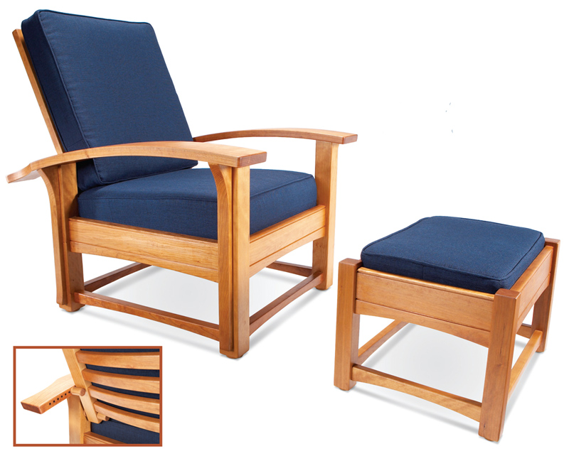 Contemporary Morris Chair and Ottoman - Popular Woodworking Magazine