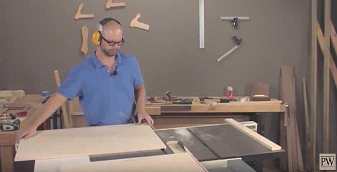 panel cutting sled