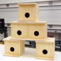 arn owl box plans,  how to build birdhouses, wren birdhouse plans