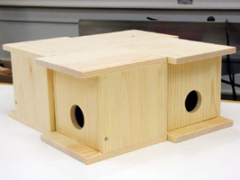 building birdhouses,  easy birdhouse plans, bluebird box plans