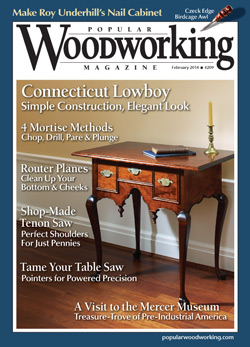 Popular Woodworking Magazine February 14 Cover