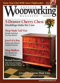Popular Woodworking Magazine April 14 Cover