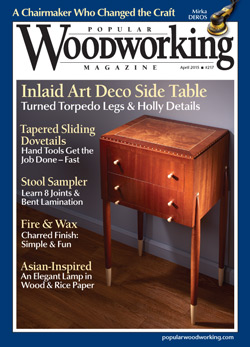 Popular Woodworking Magazine April 2015 Cover