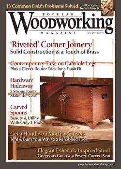 Popular Woodworking Magazine June 14 Cover