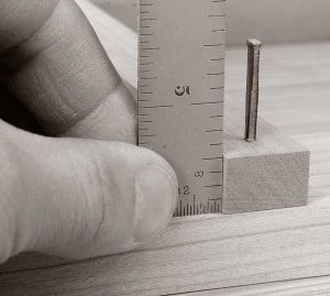 "Here's how to determine the right nail length. Measure the thickness of the board you are fastening and convert that to eighths (e.g. a 1⁄2"" board would be four-eighths). Select the nail based on that thickness (e.g. a 4d nail for four-eighths material)."