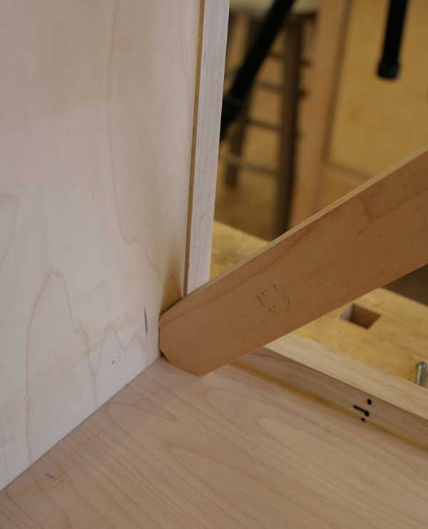 Cut flats on the ends for a solid fit to the case sides.