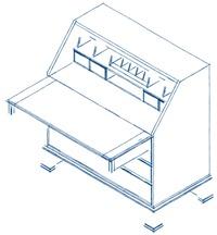 Sketchy SketchUp Secretary Model In Parallel Projection