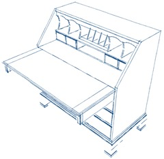 SketchUp for woodworkers – a secretary