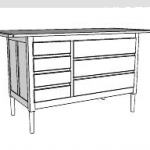 shaker cabinet sketchup