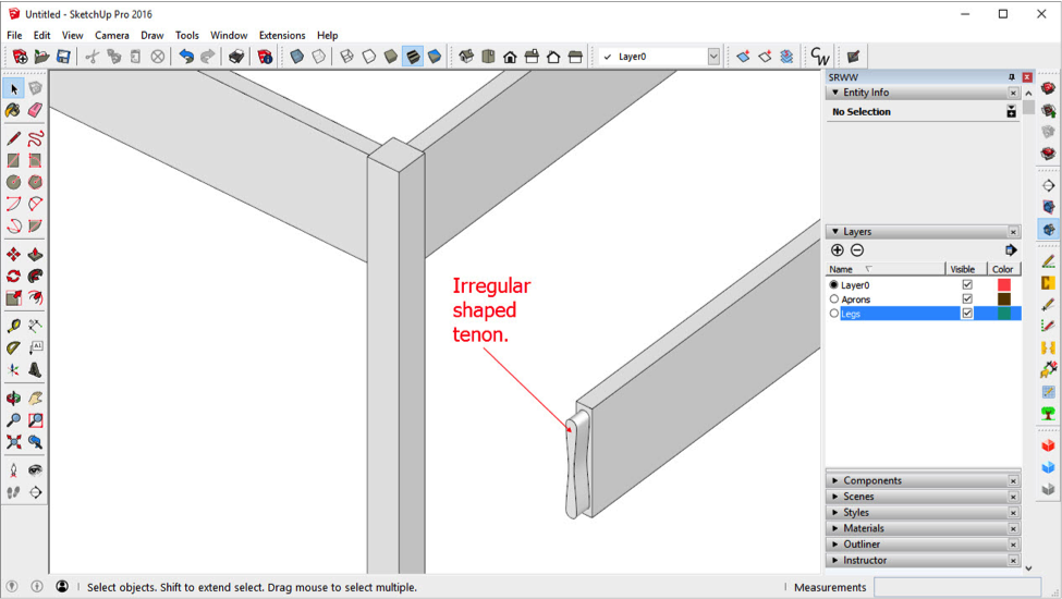 shaped-tenon-in-sketchup