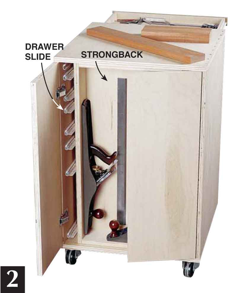 Diy Storage Cabinet Plans: How To Make Rolling Garage Cabinets: DIY Plans, Free
