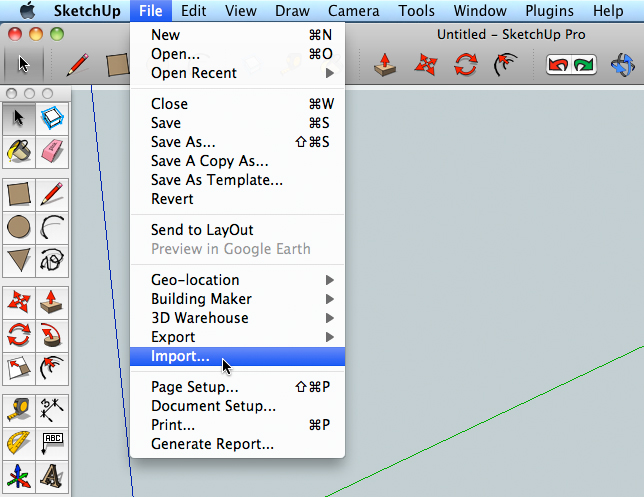 Use a photo to make a sketchup model for Sketchup import