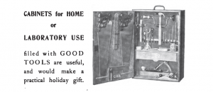 Original advertisement for a Sloyd tool cabinet.