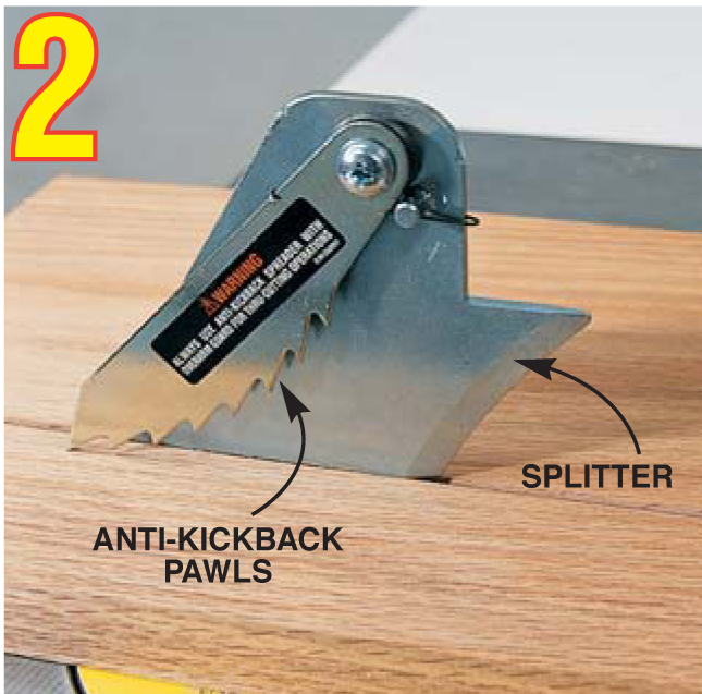 Soup up your shop popular woodworking magazine Table saw splitter