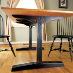 The trestle table is a great woodworking idea that never gets old (even if you give it an antique finish).