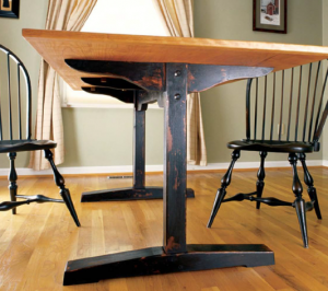 The trestle table is a great woodworking project idea that never gets old (even if you give it an antique finish).