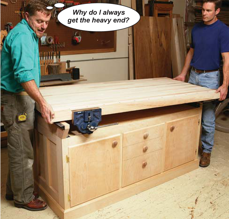 Creative Workbench Overhang Max   Woodworking Talk  Woodworkers