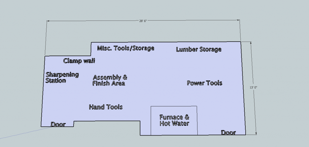Matt's woodshop layout